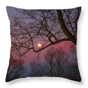Moonrise Throw Pillow by Kathryn Meyer