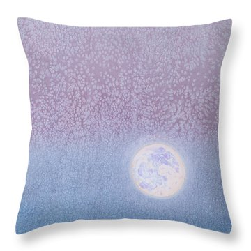Throw Pillow featuring the painting Moonrise by Margaret Bobb