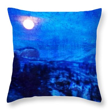 Moonrise Over Black Canyon Of The Gunnison II Throw Pillow