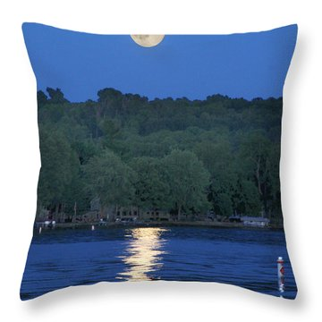 Reflections Of Luna Throw Pillow by Richard Engelbrecht