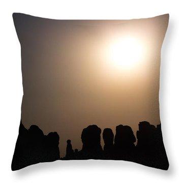 Moonrise Over Eden Throw Pillow