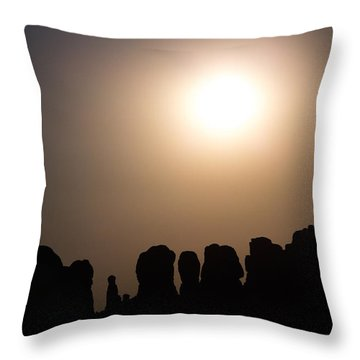 Moonrise Over Eden Throw Pillow