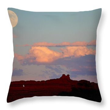 Moonrise Over Goblins Throw Pillow