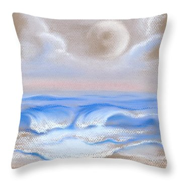 Moonrise Over Myrtle Beach Throw Pillow by MM Anderson