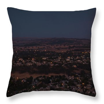 Moonrise Over Paso Throw Pillow