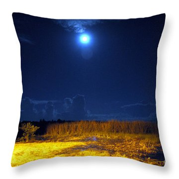 Moonrise Over Rochelle - Landscape Throw Pillow