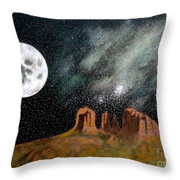 Moonrise Over Sedona Throw Pillow by John Lyes
