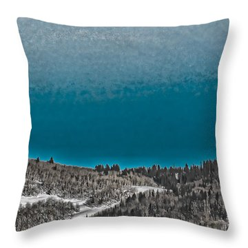 Throw Pillow featuring the photograph Moonrise Over The Mountain by Don Schwartz