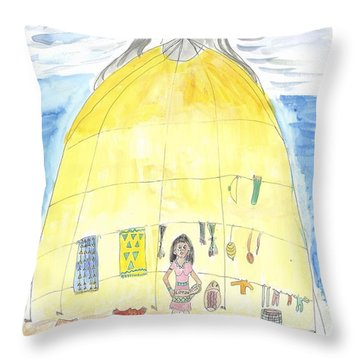 Moon's Arrival Throw Pillow