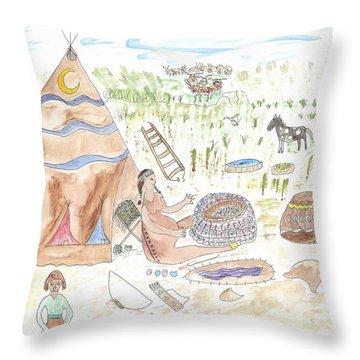 Moon's Imminent Birth Throw Pillow