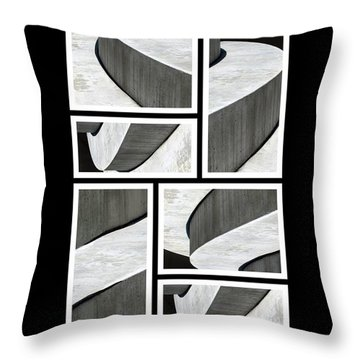 Moonscapes. Abstract Photo Collage 01 Throw Pillow by Ausra Huntington nee Paulauskaite