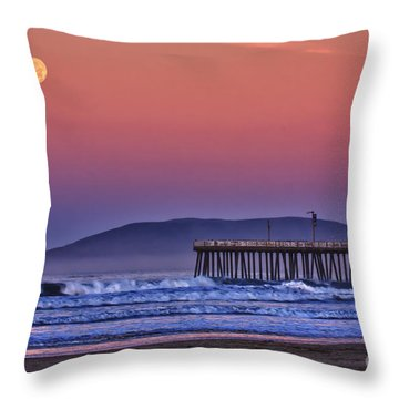 Moonset Throw Pillow
