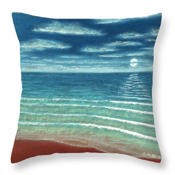 Moonset C Throw Pillow