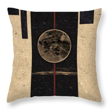 Moonset Throw Pillow by Carol Leigh