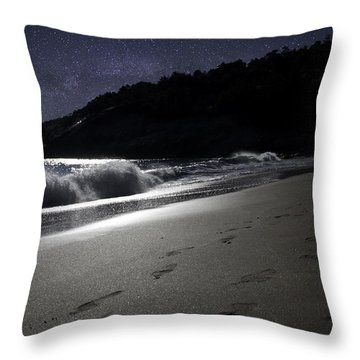 Moonshine Beach Throw Pillow by Brent L Ander