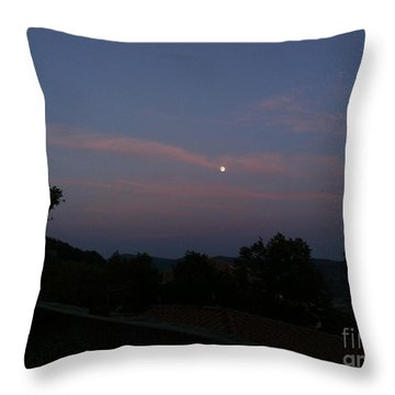 Moonshine In Cortona Throw Pillow