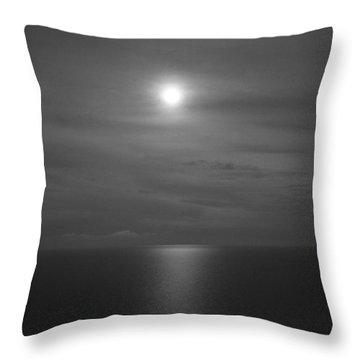 Moonshine Throw Pillow by Jennifer E Doll