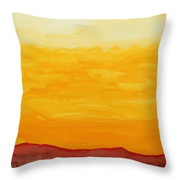 Moonshine Original Painting Sold Throw Pillow by Sol Luckman