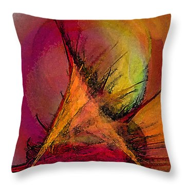 Moonstruck-abstract Art Throw Pillow