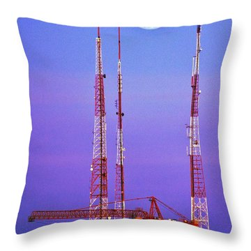 Moontowers Throw Pillow by Benjamin Yeager