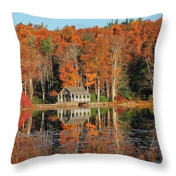 Moore State Park Autumn I Throw Pillow