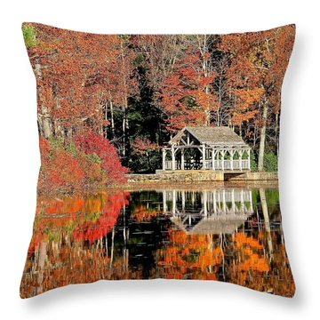 Moore State Park Autumn II Throw Pillow