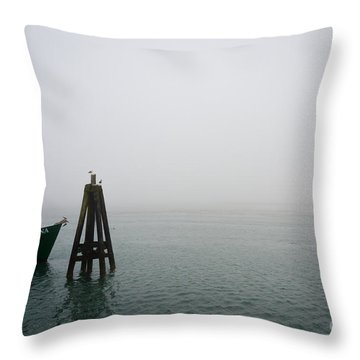 Moored Throw Pillow by CML Brown