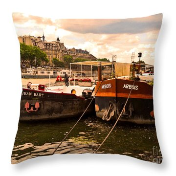 Moored Throw Pillow by Lauren Leigh Hunter Fine Art Photography