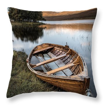 Moored On Loch Awe Throw Pillow