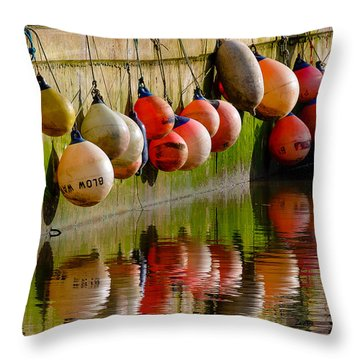 Mooring Buoys Throw Pillow