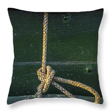 Throw Pillow featuring the photograph Mooring Hitch by Marty Saccone