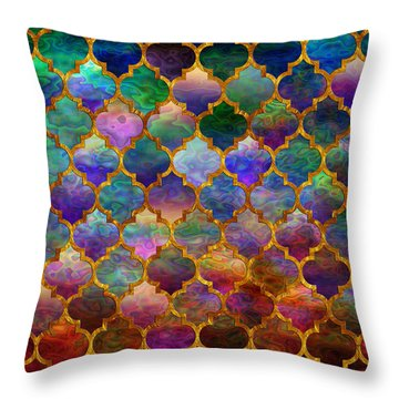 Moorish Mosaic Throw Pillow by Lilia D