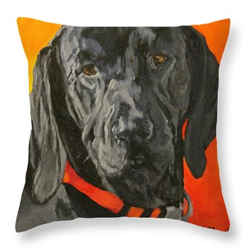 Moose Throw Pillow by Wendy Shoults