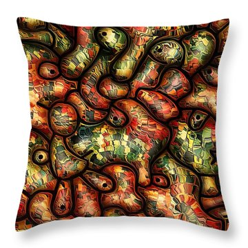 Mop By Rafi Talby Throw Pillow by Rafi Talby