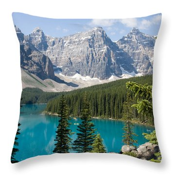 Throw Pillow featuring the photograph Moraine Lake by Chris Scroggins