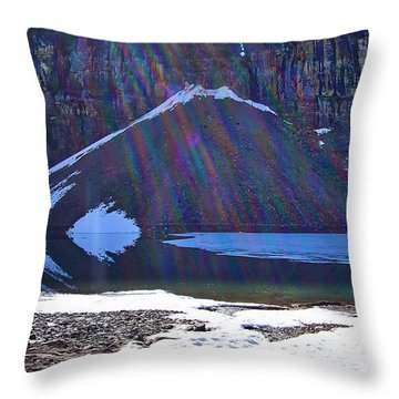Throw Pillows Vs Lens Flare : Moraine Lake Lens Flare Photograph by Stuart Litoff