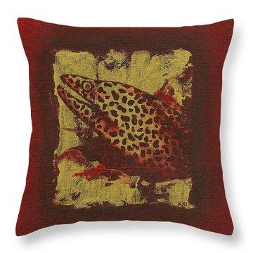 Moray Eel Throw Pillow