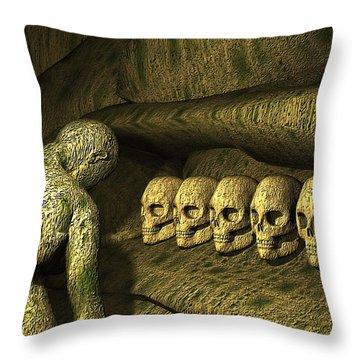 Throw Pillow featuring the digital art Morbid Vespers by John Alexander