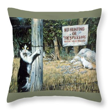 Throw Pillow featuring the painting More Civil Disobedience by Donna Tucker