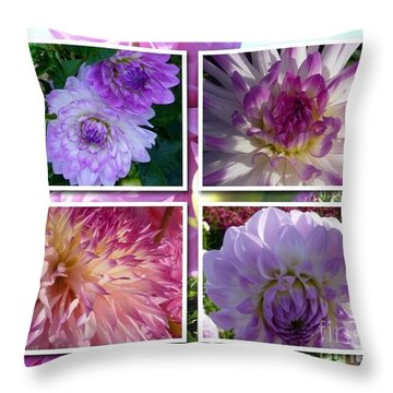 More Dahlias Throw Pillow by Susan Garren