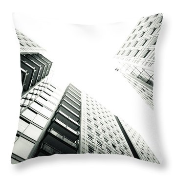 More Grids And Lines Throw Pillow by Lenny Carter
