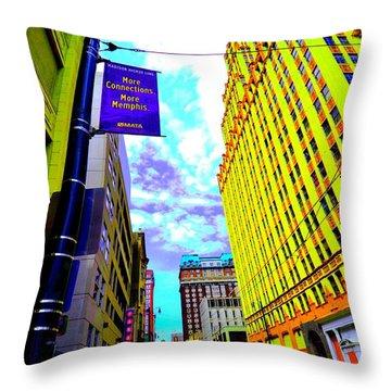 More Memphis On Monroe Throw Pillow
