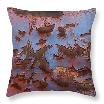 More Painted Desert Abstract Square. Throw Pillow