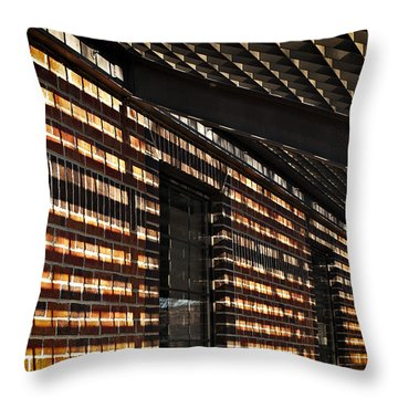 Throw Pillow featuring the photograph More Shadows by Judy  Johnson