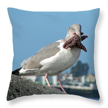 More Than He Can Chew  Throw Pillow