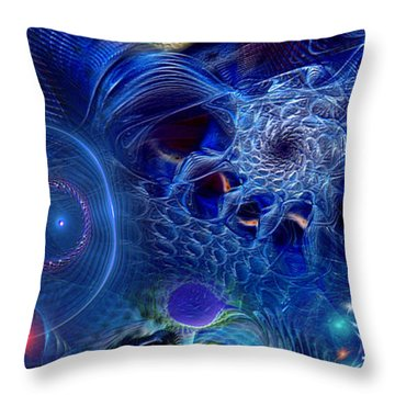 Throw Pillow featuring the digital art More Things In Heaven And Earth by Casey Kotas