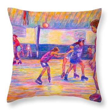More Trios Throw Pillow by Kendall Kessler