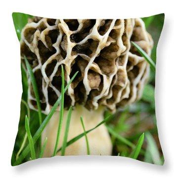 Morel Throw Pillow