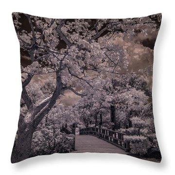 Morikami Gardens - Bridge Throw Pillow
