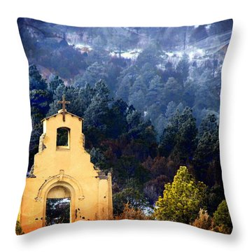Throw Pillow featuring the photograph Morley Mission 1917 Colorado by Barbara Chichester